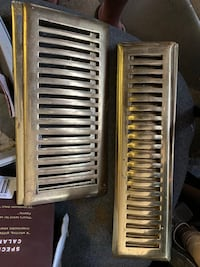 Brass vents, solid, heavy