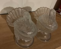 Turkey Crystal Covered Candy Dishes Set of Two Peabody, 01960