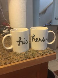Couple his and hers coffee mugs both for 12 Calgary, T3K 6E8