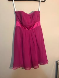 Hot pink strapless Dress