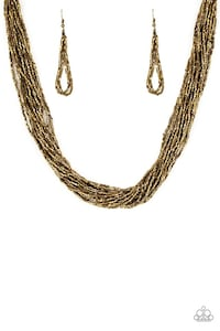 gold-colored chain necklace 27 km