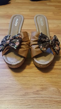 Brown Aldo wedge sandals Dartmouth, B2W