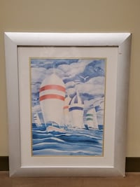 Very Large FRAMED, GLASS-COVERED ORIGINAL WATERCOLOR - firm price. Arlington, 22204