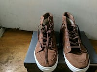 pair of brown suede high top sneakers size 11 Vancouver, V6P 4A7
