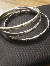 Solid silver Bangles ✨ Abbotsford, V2T 2G7