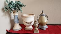 4 miscellaneous decorative items for $50(candle stick, urn, etc ) Mesa, 85212