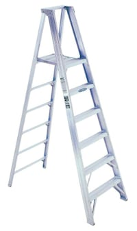 NEW Werner 14 ft. Reach Aluminum Platform Step Ladder with 375 lb. Load Capacity Type IAA Duty Rating Ontario, 91761
