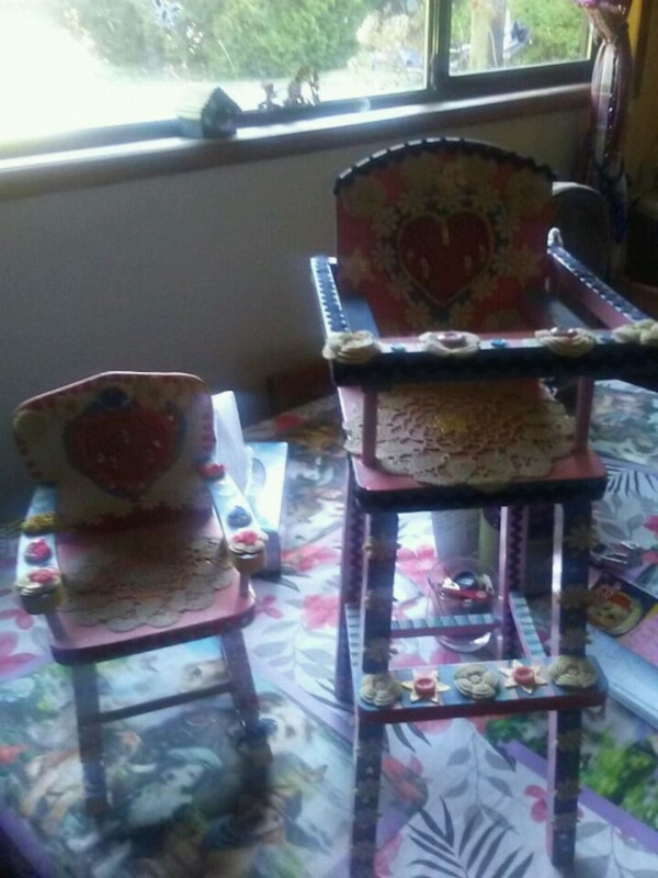 2 homemaded rocking chairs. 40