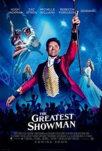 2 Tickets to the Greatest Showman Tonight at JC Clive, 50325
