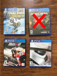 Three (3) Ps4 games (Trials Fusion, MotoGP 14, Battlefront Deluxe Edition). Greenville, 29607