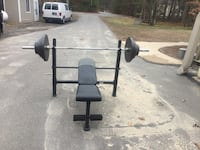Weight beanch and weights