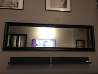 black wooden framed wall mirror Mississauga, L5A