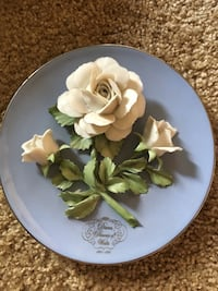 Franklin Mint Diana Princess of Whales  Rose Plate Ontario, 91764