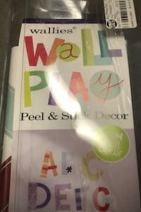 Wall play peel and stick decor