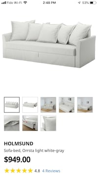 Holmsund extra large sofa bed with concealed bed and storage! Vancouver, V6G 0B6