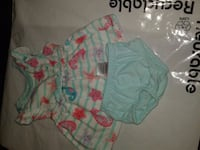 toddler's teal and pink floral onesie Laredo