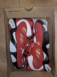 pair of red-and-white Nike basketball shoes Indian Head, 20640