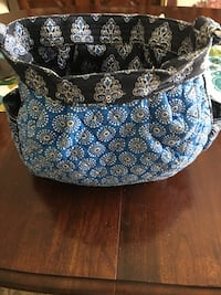 Vera Bradley reversible purse navy white and royal blue and color