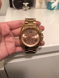 MK Bradshaw rose gold watch