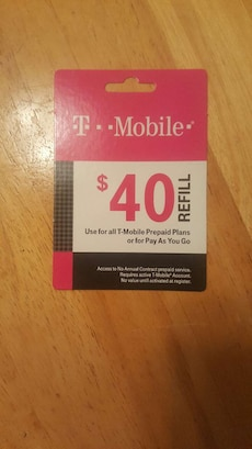 Tmobile refill card in clarksville letgo for T mobile refill
