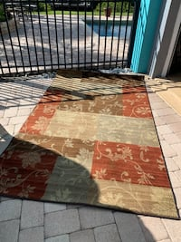 brown and red floral area rug Bradenton, 34208