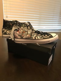 pair of brown-and-white high top sneakers Stockton, 95207