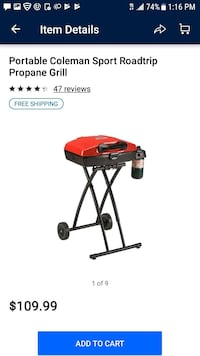 black and red Coleman camping chair screenshot Tucson, 85714