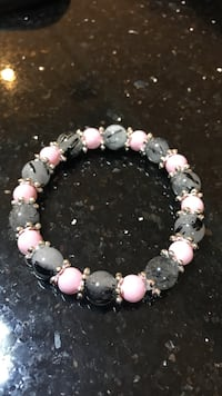 black and pink beaded bracelet Toronto, M9L 2P3