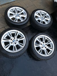 "4 BMW WHEELS WITH TIRES 17"" Mississauga, L5M 7Y1"