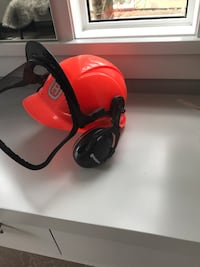 Safety helmet with metal screen, like new Calgary, T3H 0R9