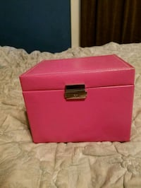 "Jewelry box (hot pink ""leather"") Washington, 20012"