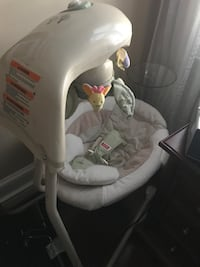 baby's white and gray cradle and swing Raleigh, 27613