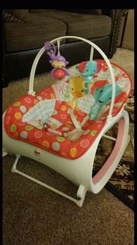 baby's pink and white Fisher-Price bouncer Nashville, 37013