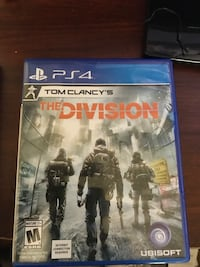 PS4 Tom Clancy's The Division game case