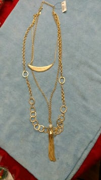 Chico,'s gold  new colored necklace with pendant 542 mi