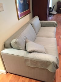 Custom Ethan Allen couch with easy wash fabric