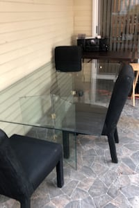 Kitchen table all glass 4ft x 7ft long Silver Spring, 20904