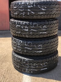 265/75/16 used tires LT 10PLY A/T Falken set of 4 good thread
