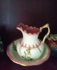 white and pink ceramic pitcher Portage, 46368