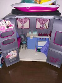 purple and pink plastic kitchen play set