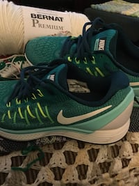 pair of green-and-white Nike running shoes Toronto, M4M 2Z5