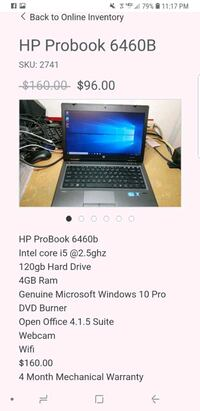 black and gray HP laptop 45 km