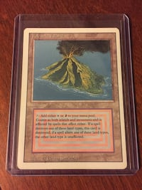 Magic The Gathering Volcanic Island Card from Revised Edition Ajax, L1T 1V1