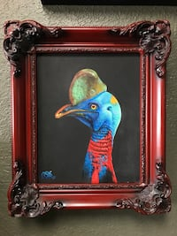 Original Cassowary painting. Art  Cocoa, 32922