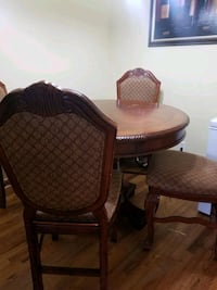 Wood family table and 4 chairs