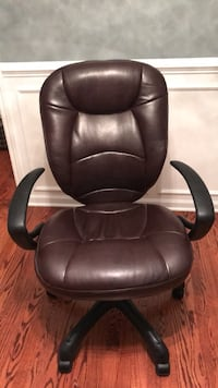black leather office rolling armchair Whitmore Lake