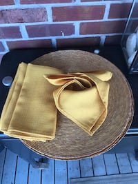 Yellow Cloth Napkins and Placemats