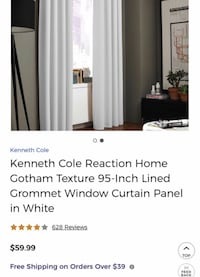 Curtain Panel Kenneth Cole Reaction 95 inch