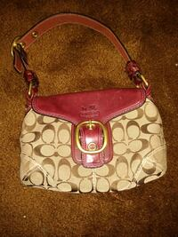 monogrammed brown Coach leather hobo bag Cincinnati, 45230