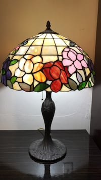 black and multicolored tiffany table lamp Coral Gables, 33134